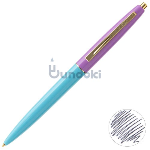 【BIC/ビック】クリックゴールドボールペン (アイスブルー×ラベンダー)