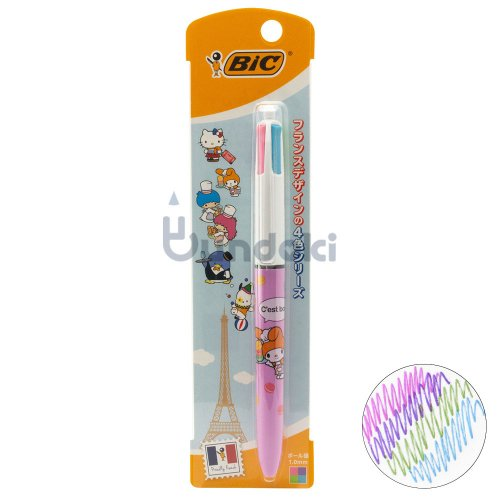 【BIC/ビック】サンリオキャラクターズ4色ボールペン1.0 FUN (マイメロディ)