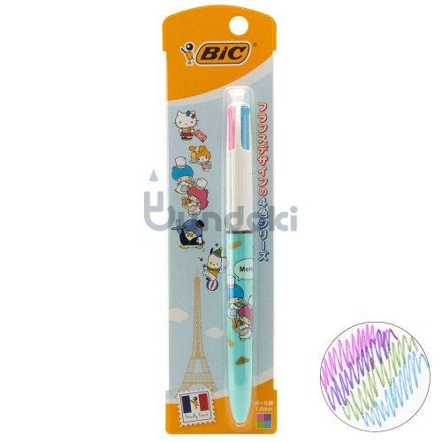 【BIC/ビック】サンリオキャラクターズ4色ボールペン1.0 FUN (リトルツインシスターズ)