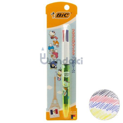 【BIC/ビック】サンリオキャラクターズ4色ボールペン1.0 ネオン (ポチャッコ)