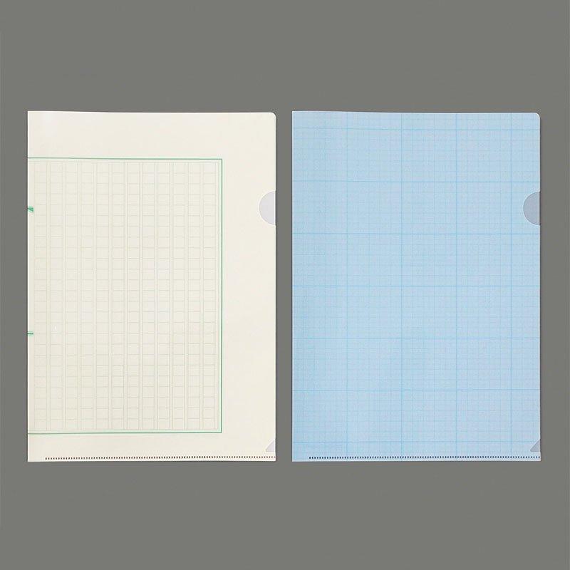 【yuruliku/ユルリク】BUNGU Clear Folder (原稿用紙・グラフ用紙)
