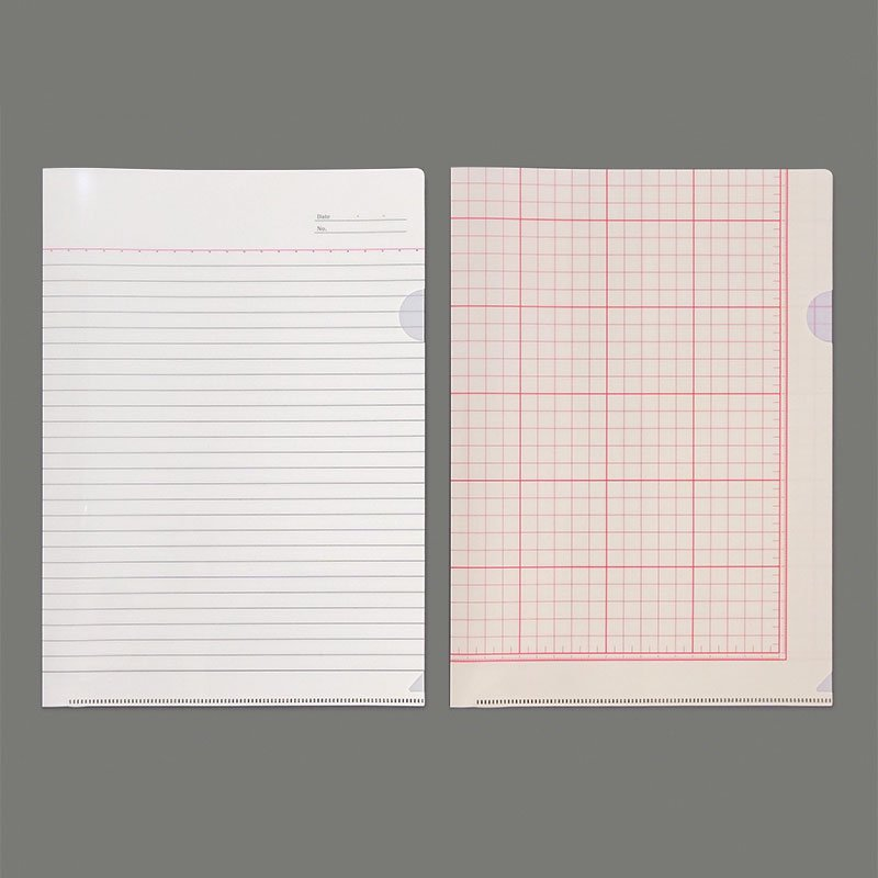 【yuruliku/ユルリク】BUNGU Clear Folder (大学ノート・工作用紙)