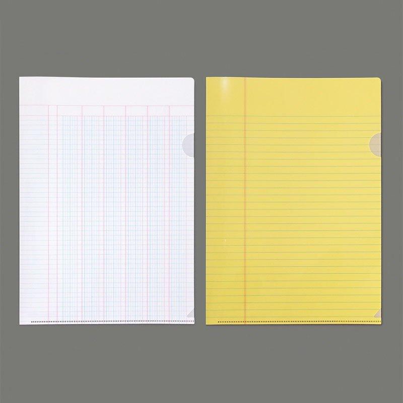 【yuruliku/ユルリク】BUNGU Clear Folder (リーガルパッド・出納用紙)