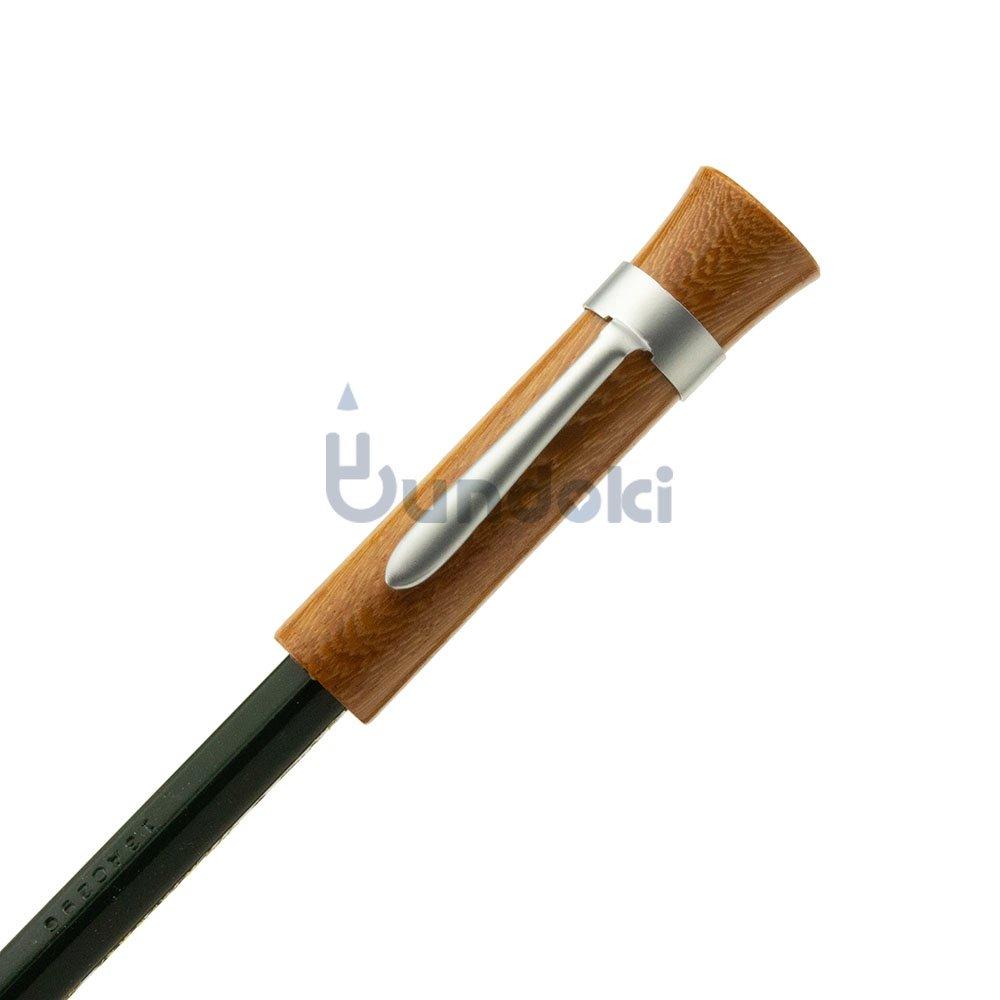 【CRAFT A × ブンドキ.com】オリジナル木製鉛筆キャップ(クリップ付き)/紫檀