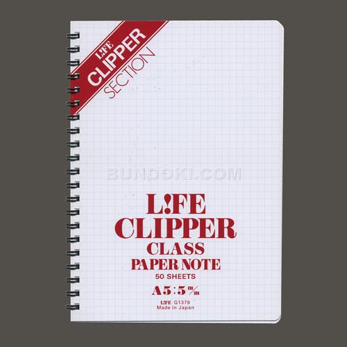 【LIFE/ライフ】Clipper Class Paper/クリッパーリングノートA5