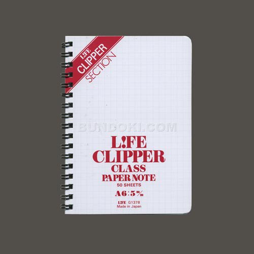 【LIFE/ライフ】Clipper Class Paper/クリッパーリングノートA6