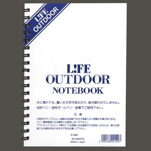 【LIFE/ライフ】OUTDOOR/アウトドアリングノートB6