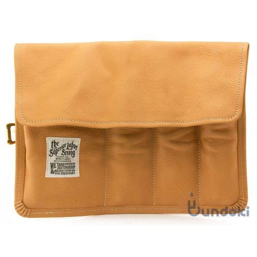 【THE SUPERIOR LABOR/シュペリオール レイバー 】leather roll pen case (ナチュラル)