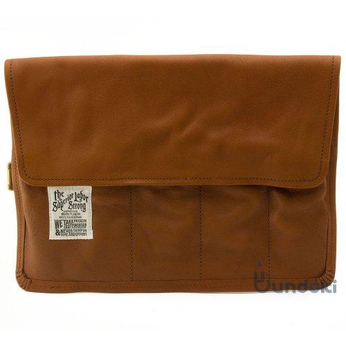 【THE SUPERIOR LABOR/シュペリオール レイバー 】leather roll pen case (ライトブラウン)
