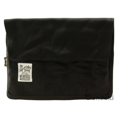 【THE SUPERIOR LABOR/シュペリオール レイバー 】leather roll pen case (ブラック)