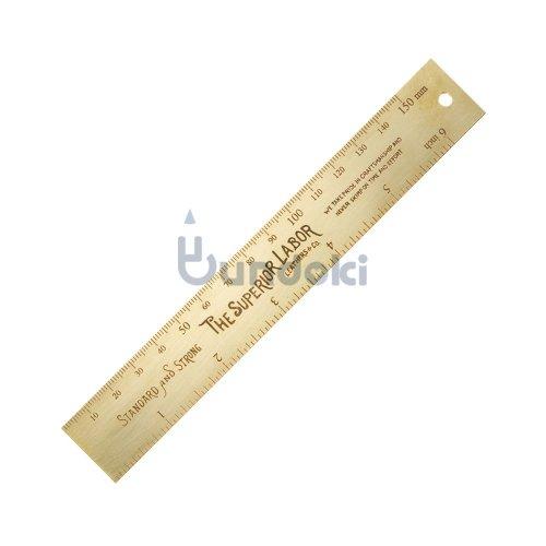 【THE SUPERIOR LABOR/シュペリオール レイバー 】15cm brass ruler / ミリインチ定規