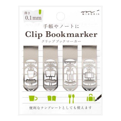 【MIDORI/ミドリ】ブックマーカー クリップ (くらし柄)