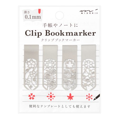 【MIDORI/ミドリ】ブックマーカー クリップ (花柄)