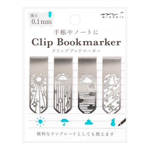 【MIDORI/ミドリ】ブックマーカー クリップ (天気柄)