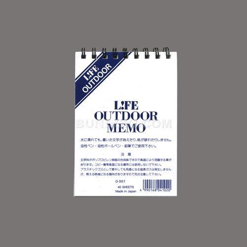 【LIFE/ライフ】OUTDOOR/アウトドアリングノート/O-997