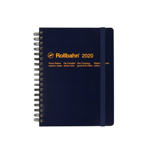 【Delfonics/デルフォニックス】2020年 ロルバーンダイアリーL (ダークブルー)