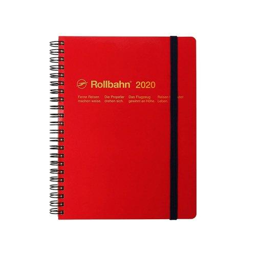【Delfonics/デルフォニックス】2020年 ロルバーンダイアリーA5 (レッド)