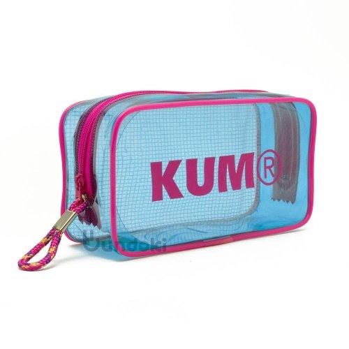 【KUM/クム】クリアペンポーチ (パステルブルー)