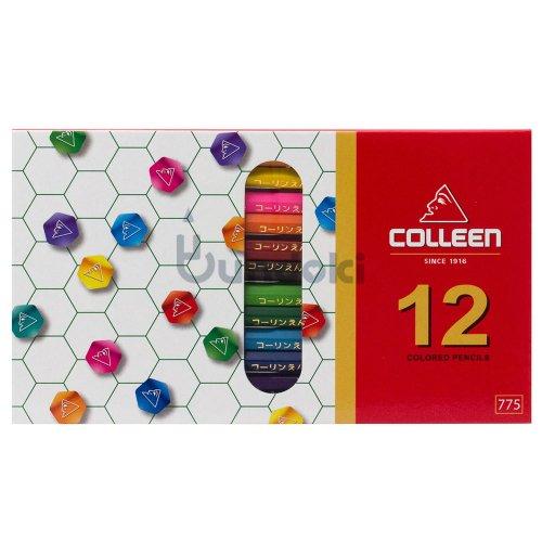 【コーリン色鉛筆/colleen】775六角 12色紙箱入り色鉛筆