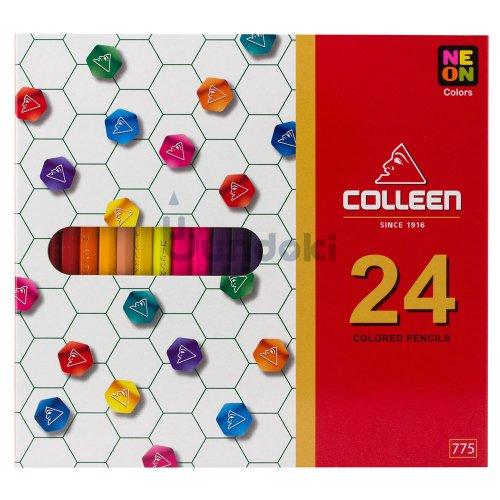 【コーリン色鉛筆/colleen】775六角 24色紙箱入り色鉛筆
