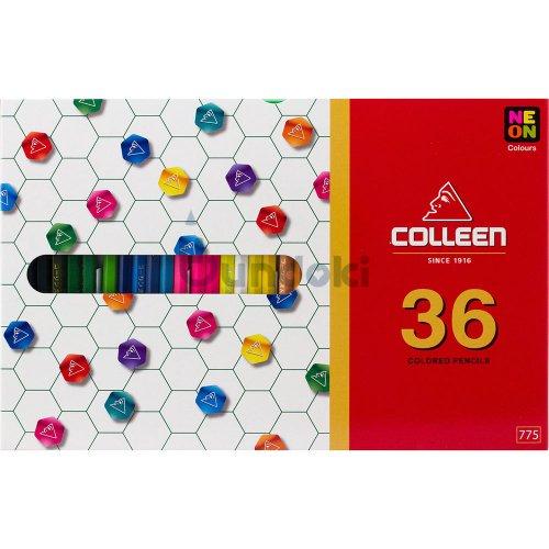 【コーリン色鉛筆/colleen】775六角 36色紙箱入り色鉛筆