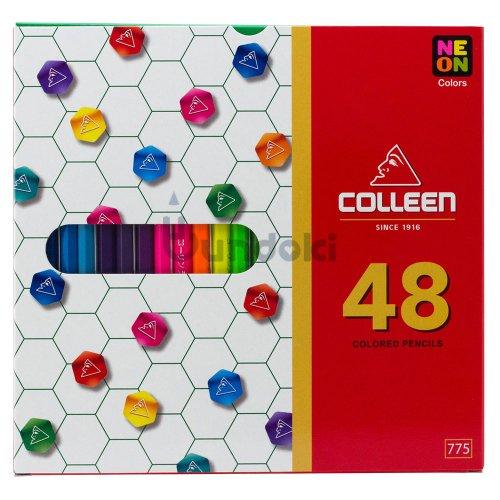 【コーリン色鉛筆/colleen】775六角 48色紙箱入り色鉛筆