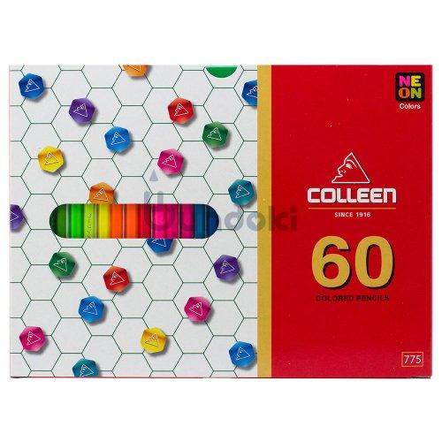 【コーリン色鉛筆/colleen】775六角 60色紙箱入り色鉛筆