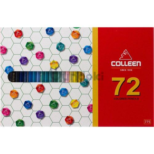 【コーリン色鉛筆/colleen】775六角 72色紙箱入り色鉛筆