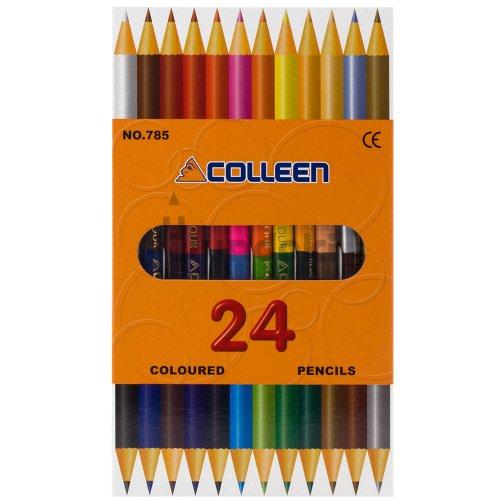【コーリン色鉛筆/colleen】785丸 12本24色紙箱入り色鉛筆
