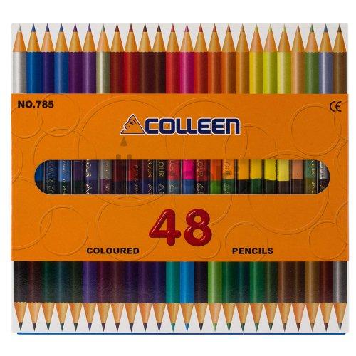 【コーリン色鉛筆/colleen】785丸 24本48色紙箱入り色鉛筆