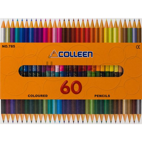 【コーリン色鉛筆/colleen】785丸 30本60色紙箱入り色鉛筆