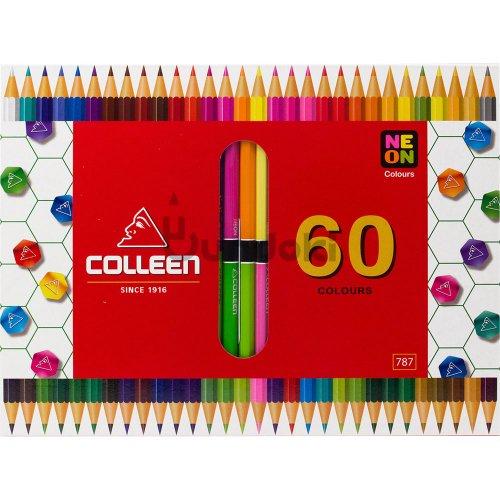 【コーリン色鉛筆/colleen】787六角 30本60色紙箱入り色鉛筆