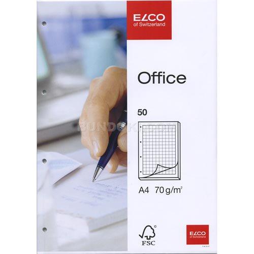 【ELCO/エルコ】Office 4mm方眼ノートパッド 4穴/A4