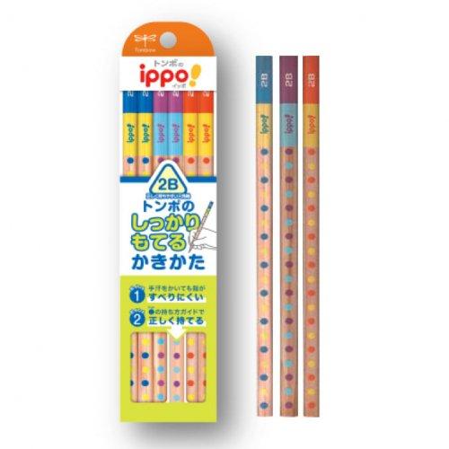 【TOMBOW/トンボ鉛筆】ippo!・かきかたえんぴつしっかり持てる三角軸012B (2B)