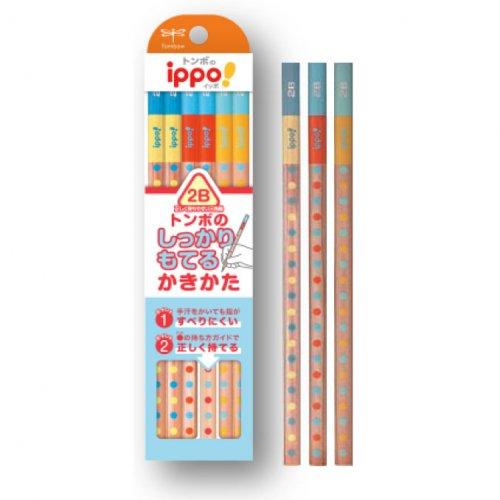 【TOMBOW/トンボ鉛筆】ippo!・かきかたえんぴつしっかり持てる三角軸022B (2B)