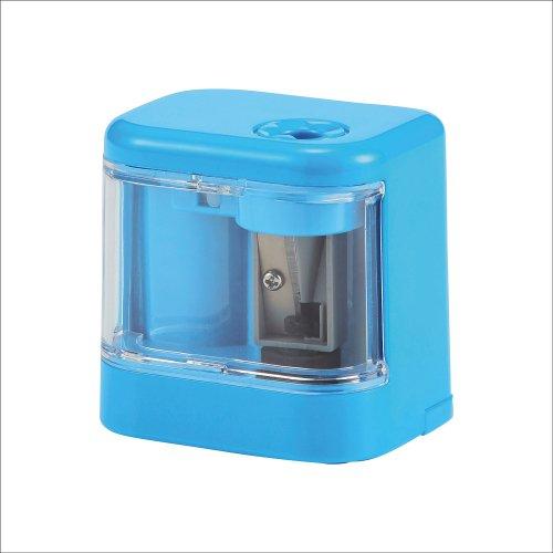 【kutsuwa/クツワ】小型電池鉛筆削りスピモ (ライトブルー)