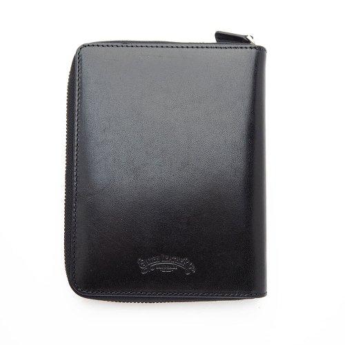 【Galen Leather/ガレンレザー】レザー ジップ5本差しペンケース (ブラック)