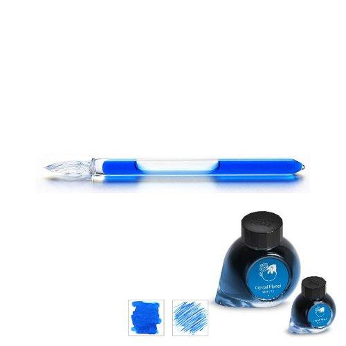 【ガラス工房まつぼっくり】ガラスペンCIP +カラーバースインクセット (クリスタルプラネット)