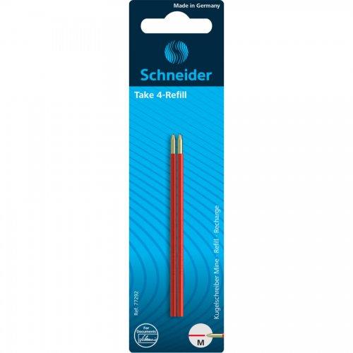 【SCHNEIDER/シュナイダー】4色ボールペン Take 4 用リフィル (レッド)