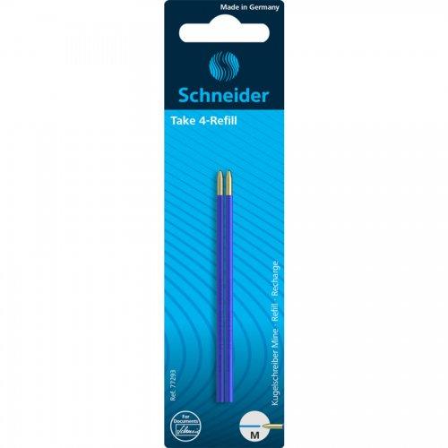 【SCHNEIDER/シュナイダー】4色ボールペン Take 4 用リフィル (ブルー)