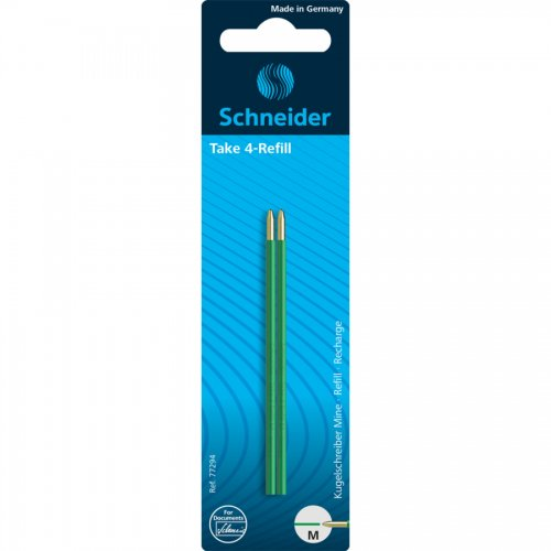 【SCHNEIDER/シュナイダー】4色ボールペン Take 4 用リフィル (グリーン)