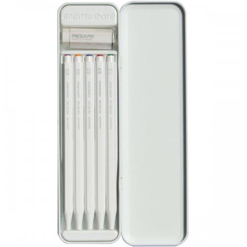 【KOKUYO/コクヨ】鉛筆シャープ (消しゴム付き限定セット/ホワイト)