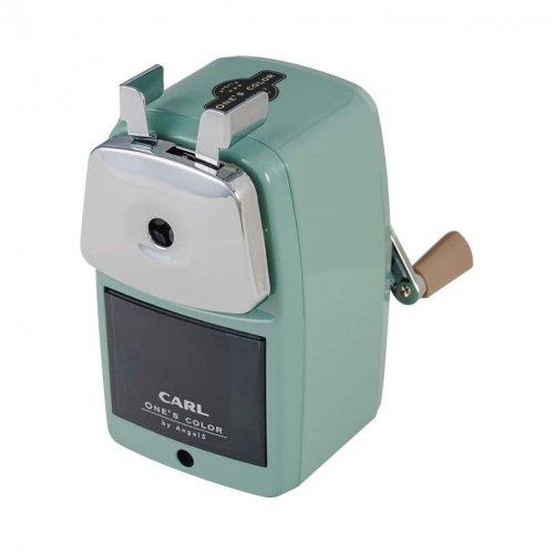 【CARL/カール事務機】エンゼル5 ロイヤル3 鉛筆削り器(ライトグリーン)