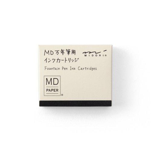 【MIDORI/ミドリ】MD万年筆用 カートリッジ (黒)