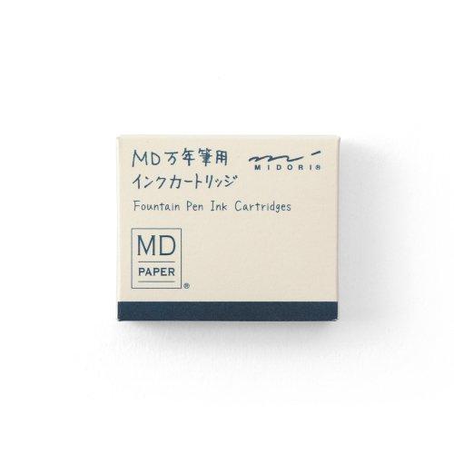【MIDORI/ミドリ】MD万年筆用 カートリッジ (ブルーブラック)