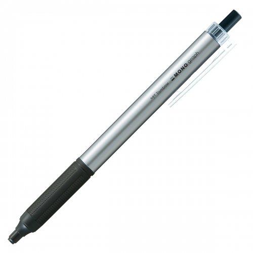 【TOMBOW/トンボ鉛筆】モノグラフライト・シルバー (0.38mm/黒)
