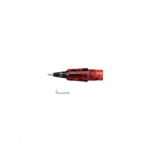 【Fluid Writing/フルーイドライティング】111ガイア用ペン先交換ユニット (レッドブラック/1.2mm)