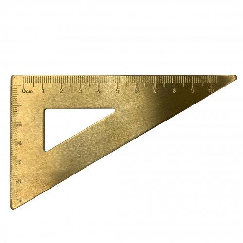 【POINT】真鍮定規 (三角定規)