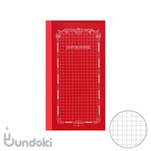 【ツバメノート】赤ツバメB6変形(方眼)