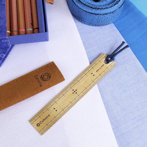 【Cohana/コハナ】真ちゅうの竹尺のしおり あお Japan Blue
